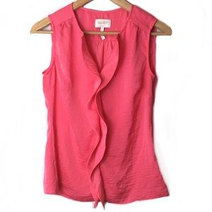 Laundry By Shelli Segal Blouse Pink Ruffle Top